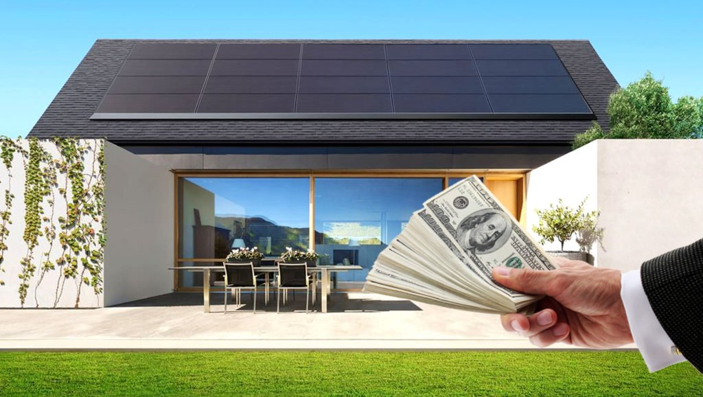 House-With-Solar-Panels-On-The-Roof