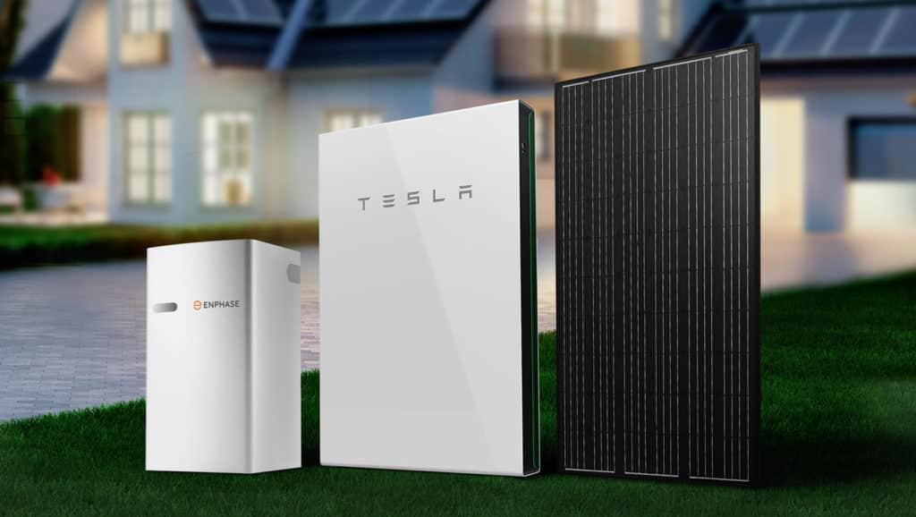 White-Tesla-Powerwall-And-Black-Solar-Panel