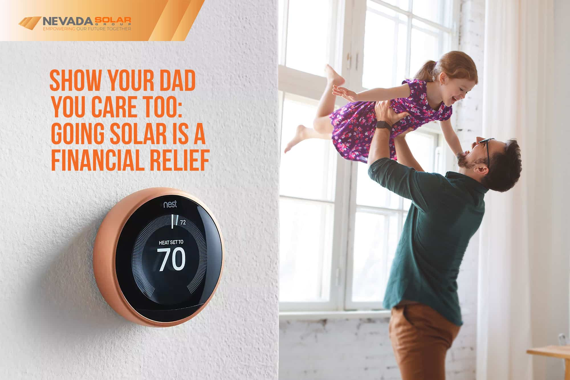 Nest-Thermostat-On-The-Wall-Of-The-House