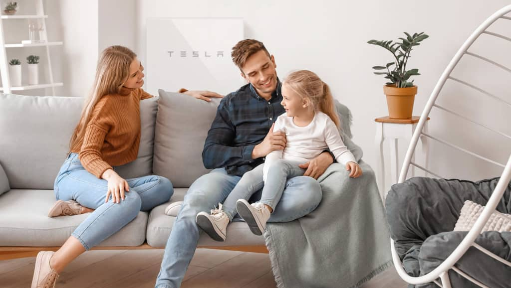 Tesla-Powerwall-On-The-Wall-Of-The-House
