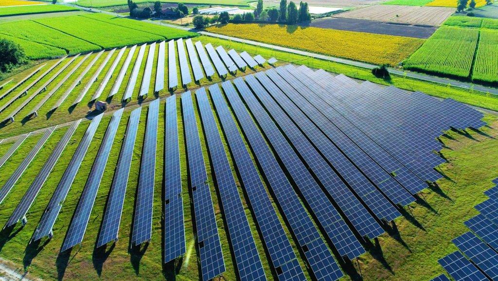 Solar-Panels-On-Green-Yard